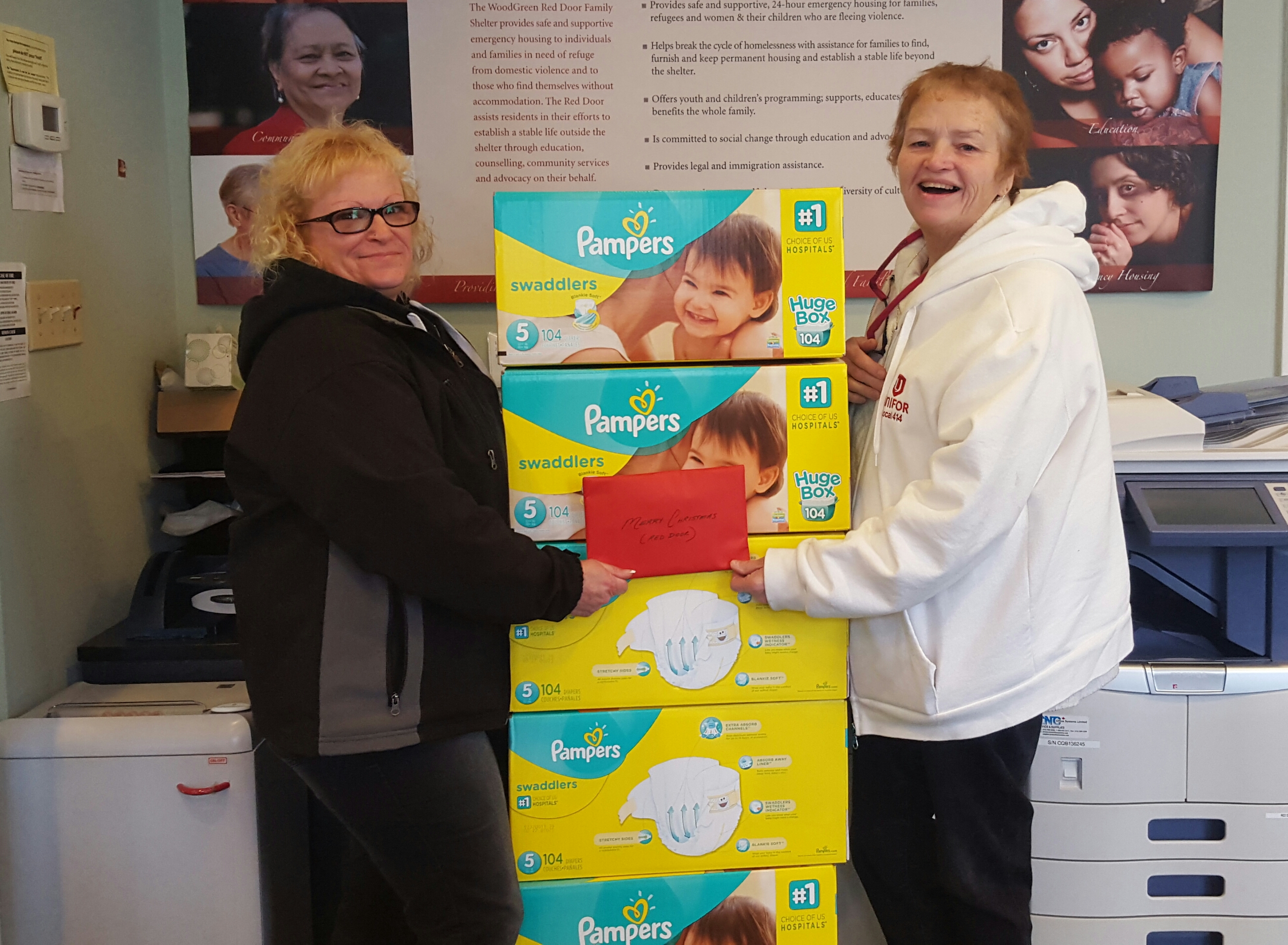 Unifor Local 414 Diapers For The Red Door